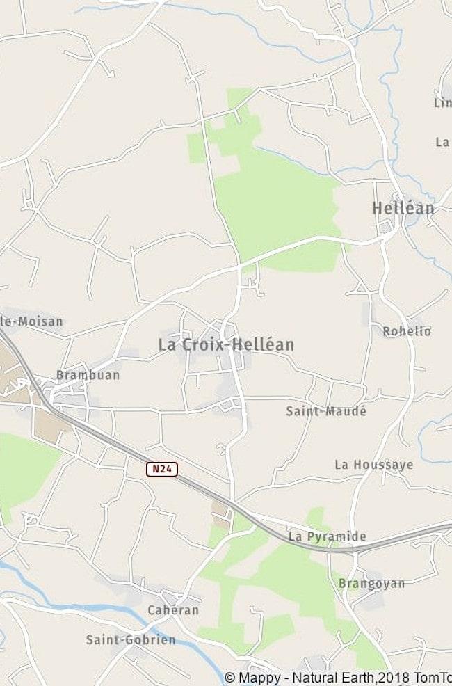 la croix-helléan situation géographique